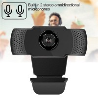 HD Webcam 1080p 2MP Dual Microphone Stereo USB Webcam