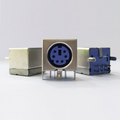 Mini DIN Jack 6 pin (PS2 Keyboard PCB Connector)