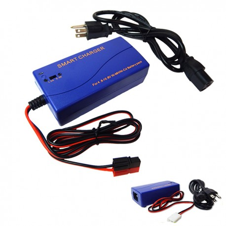 Multi Current Smart Battery Charger 1-2A for 4.8V-10.8V NiMH NiCd Battery Packs