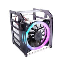 Rack Tower for Raspberry Pi & Jetson Nano 4 layer acrylic case with RGB fan for cluster and NAS