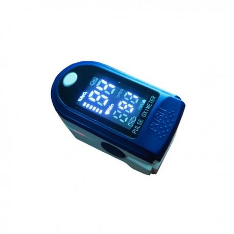 Oxymeter Oximeter Pulse Pengukur Oksigen Darah SpO2 Detak Jantung Blue