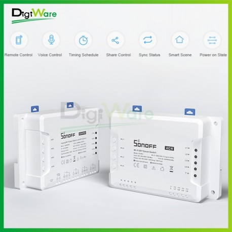 Sonoff 4CH PRO R3 Smart Home 4 Channel WiFi RF 433MHz Switch
