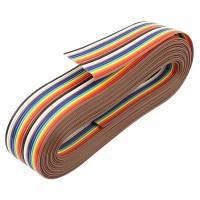 Kabel Pita Flat Rainbow Cable Pelangi 20 Pin 1 Meter