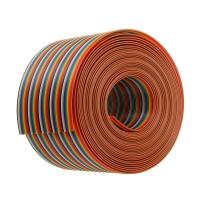 Flat Rainbow Ribbon Cable Kabel Pelangi 50 Pin 1 meter