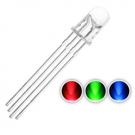 LED RGB Red Green Blue 4P Clear 5mm CLEAR Common Anode