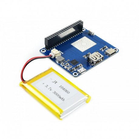 Lithium Polymer LiPo Battery HAT for Raspberry Pi 5V Output Quick Charge