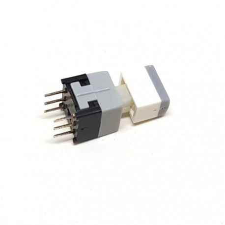 Pushbutton Switch On Off DPDT 2x3 + Knob