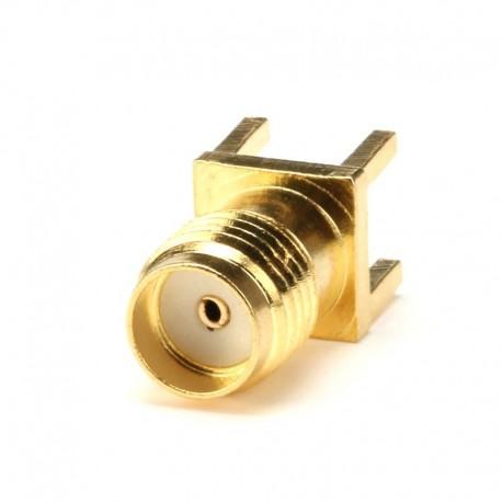 PCB Mount Straight Female Tin Plate SMA Connector (SMA-KE)